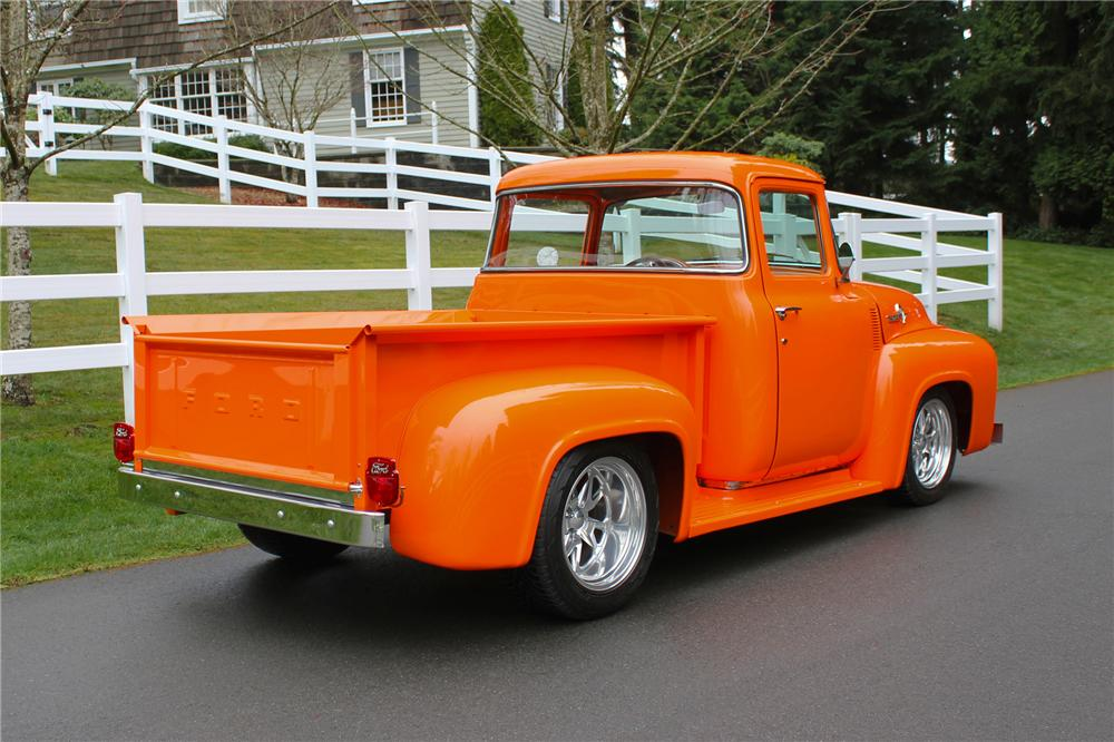 1956 FORD CUSTOM PICKUP - Rear 3/4 - 151702