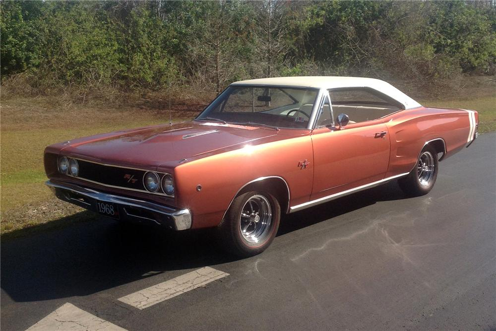 1968 DODGE CORONET R/T 2 DOOR COUPE - Front 3/4 - 151703