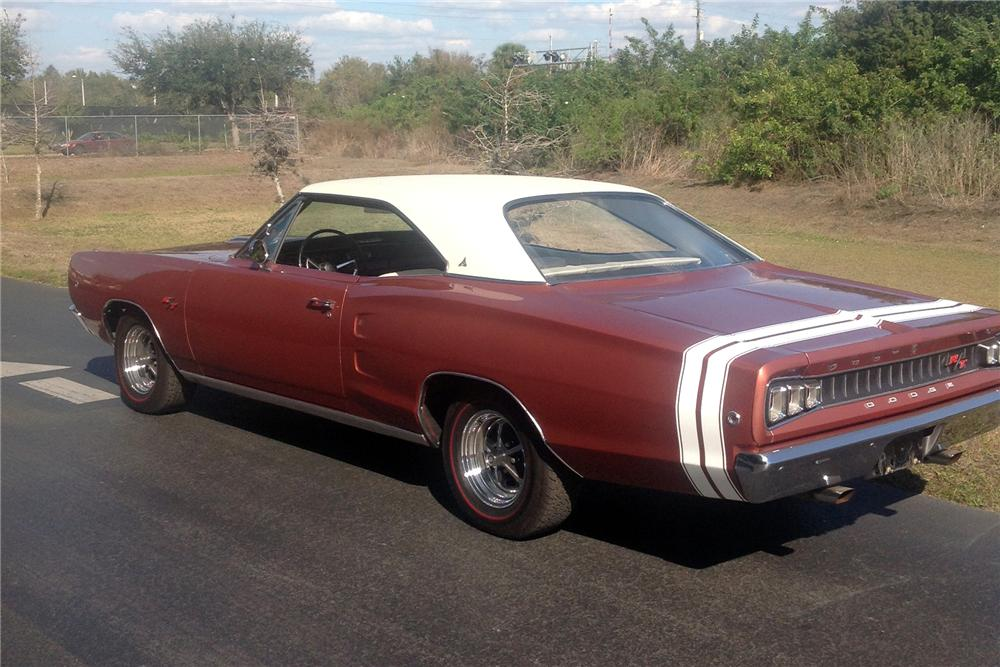 1968 DODGE CORONET R/T 2 DOOR COUPE - Rear 3/4 - 151703