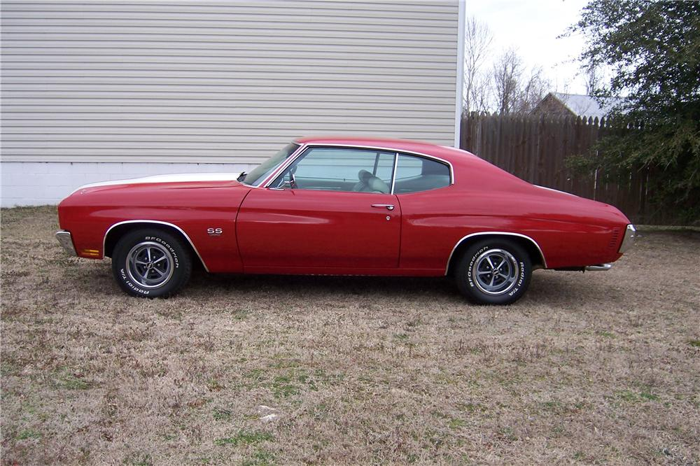 1970 CHEVROLET CHEVELLE SS 396 2 DOOR COUPE - Side Profile - 151708