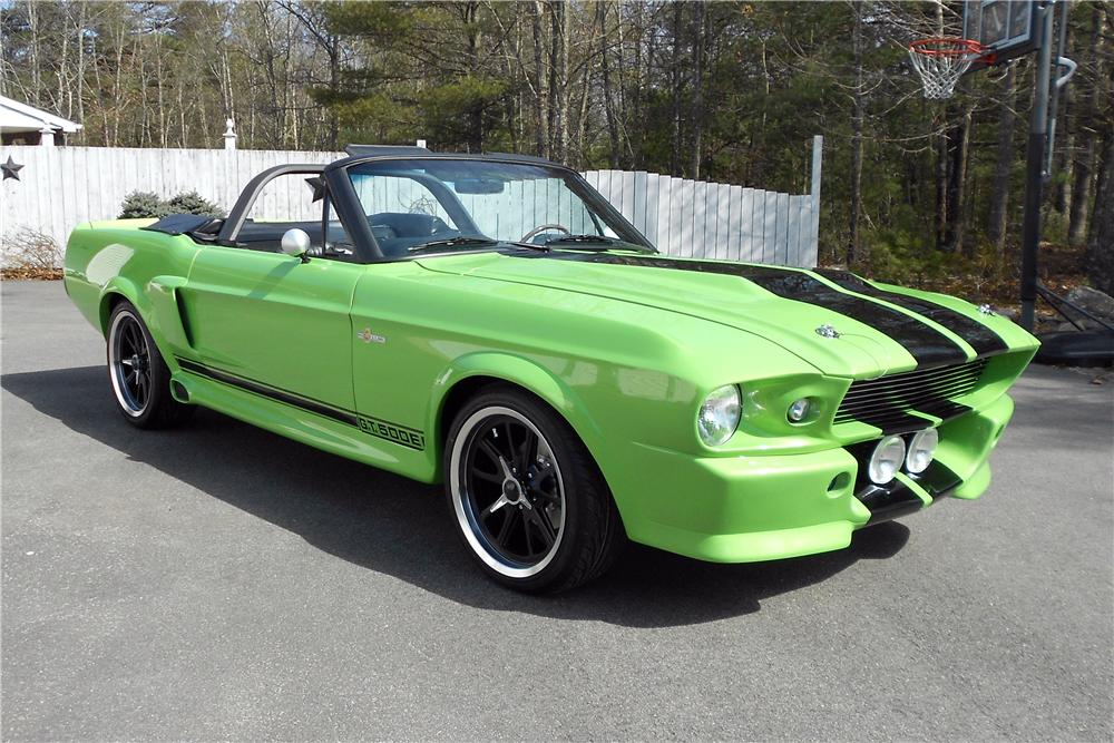 1967 FORD MUSTANG CUSTOM CONVERTIBLE - Front 3/4 - 151718