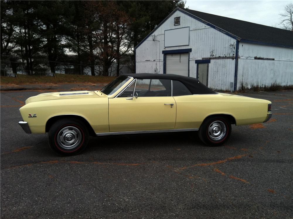 1967 CHEVROLET CHEVELLE SS 396 CONVERTIBLE - Side Profile - 151725