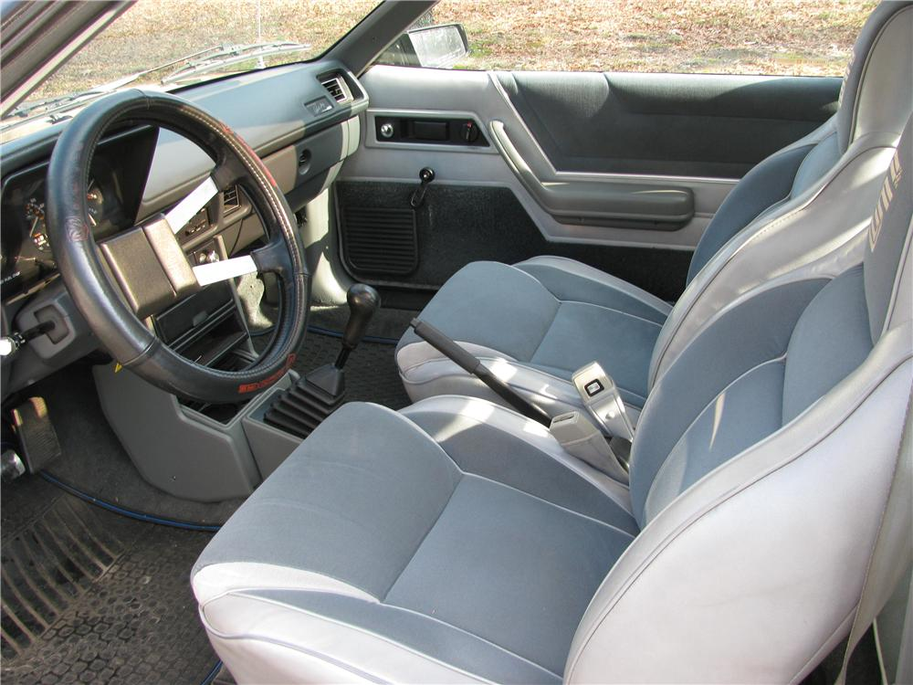1987 DODGE SHELBY GLHS HATCHBACK - Interior - 151878