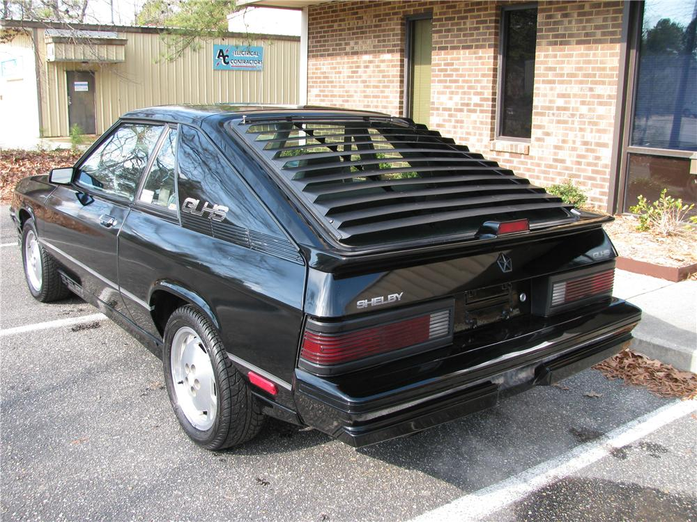 1987 DODGE SHELBY GLHS HATCHBACK - Rear 3/4 - 151878