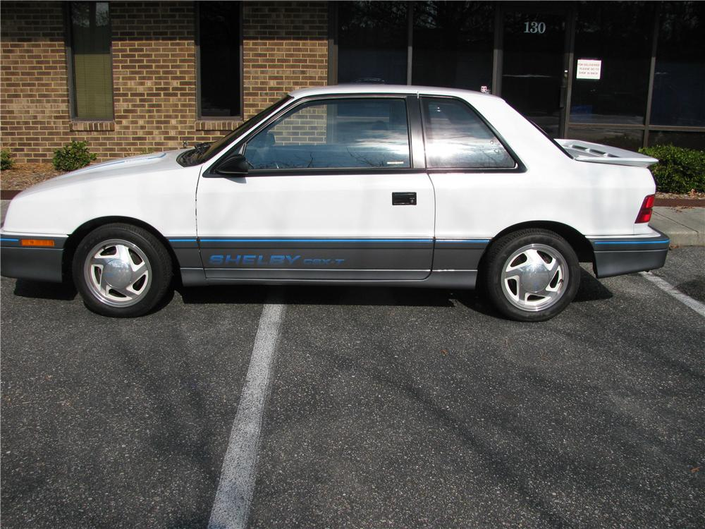 1988 DODGE SHADOW SHELBY CSX-T 2 DOOR COUPE - Side Profile - 151880