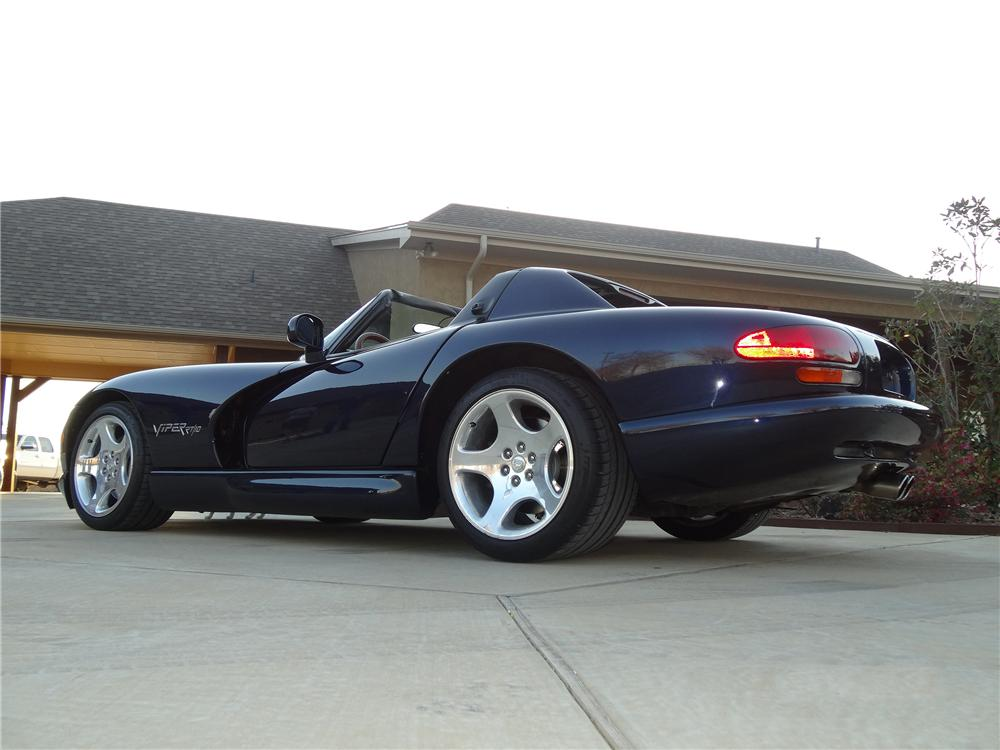 2001 DODGE VIPER RT/10 CUSTOM CONVERTIBLE - Rear 3/4 - 151927