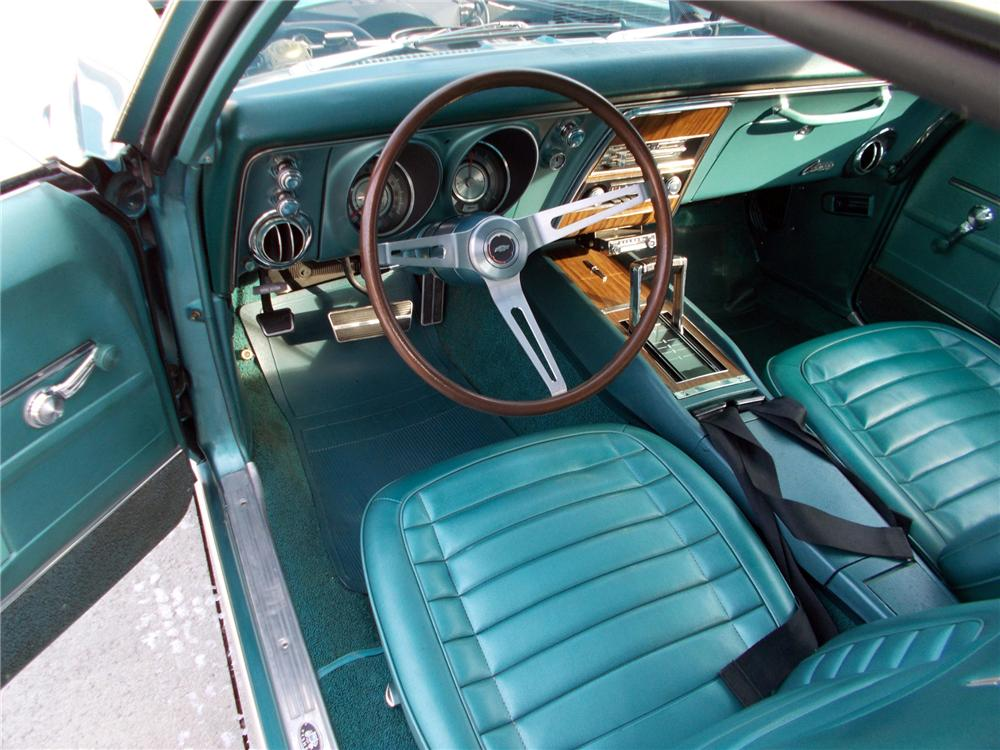 1968 CHEVROLET CAMARO 2 DOOR COUPE - Interior - 151940