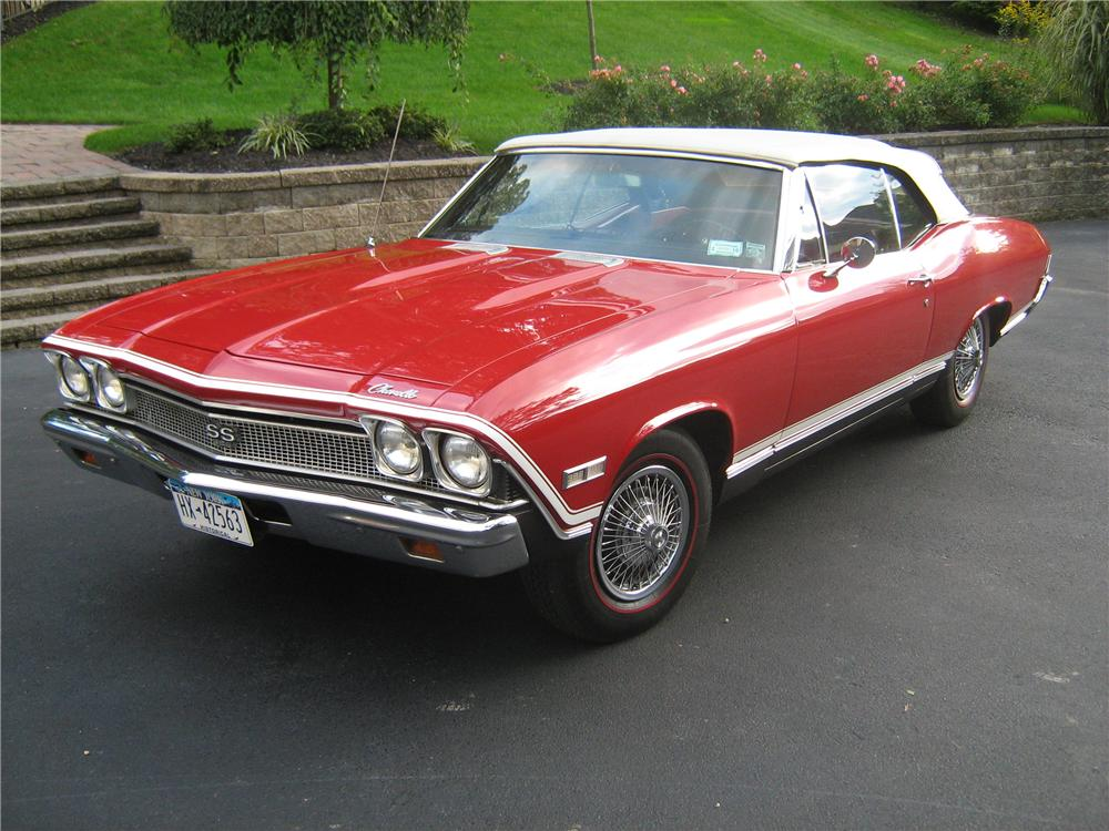 1968 CHEVROLET CHEVELLE SS 396 CONVERTIBLE - Front 3/4 - 151976