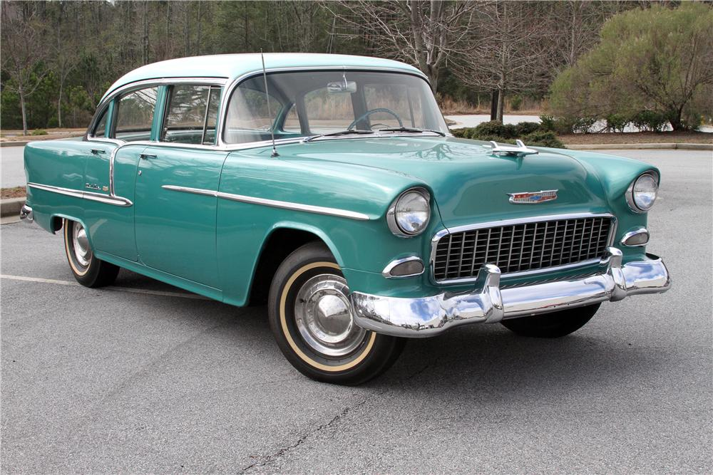 1955 CHEVROLET BEL AIR 4 DOOR SEDAN - Front 3/4 - 151986