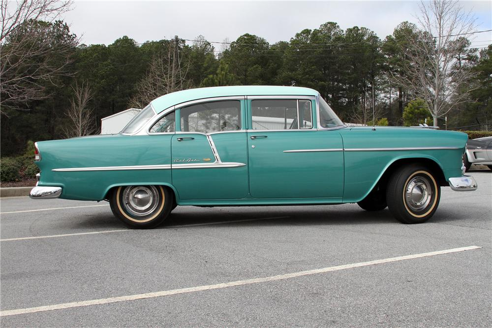 1955 CHEVROLET BEL AIR 4 DOOR SEDAN - Side Profile - 151986
