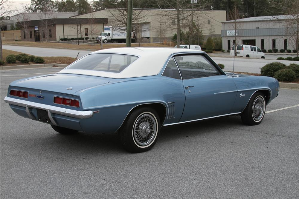 1969 CHEVROLET CAMARO 2 DOOR COUPE - Rear 3/4 - 151988