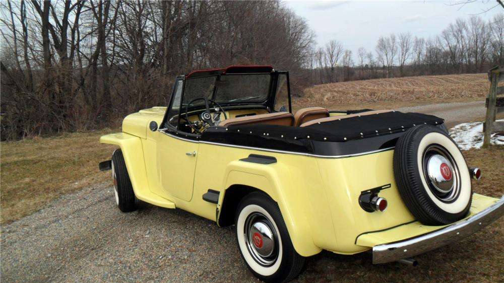 1950 WILLYS JEEPSTER CONVERTIBLE - Rear 3/4 - 152009