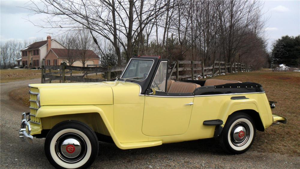 1950 WILLYS JEEPSTER CONVERTIBLE - Side Profile - 152009