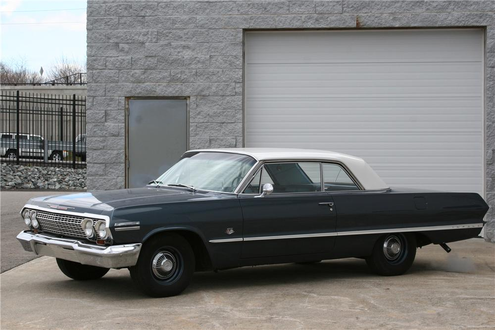 1963 CHEVROLET IMPALA 2 DOOR HARDTOP - Side Profile - 152015