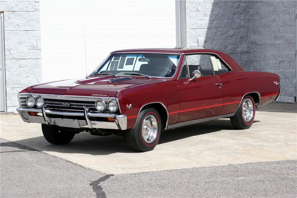 1967 CHEVROLET CHEVELLE SS 396 2 DOOR COUPE - Side Profile - 152026