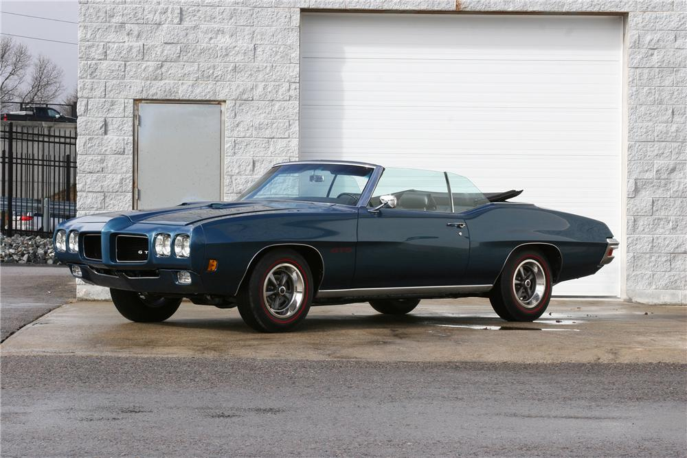 1970 PONTIAC GTO CONVERTIBLE - Side Profile - 152033