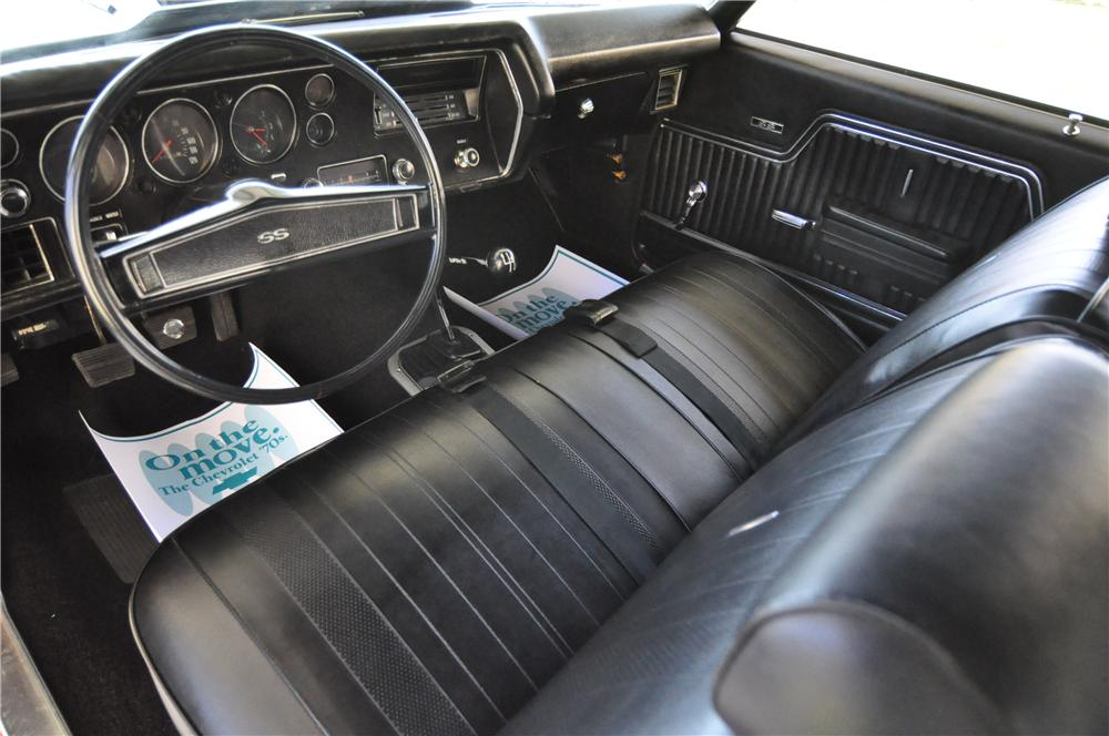 1970 CHEVROLET CHEVELLE SS 396 2 DOOR COUPE - Interior - 152035
