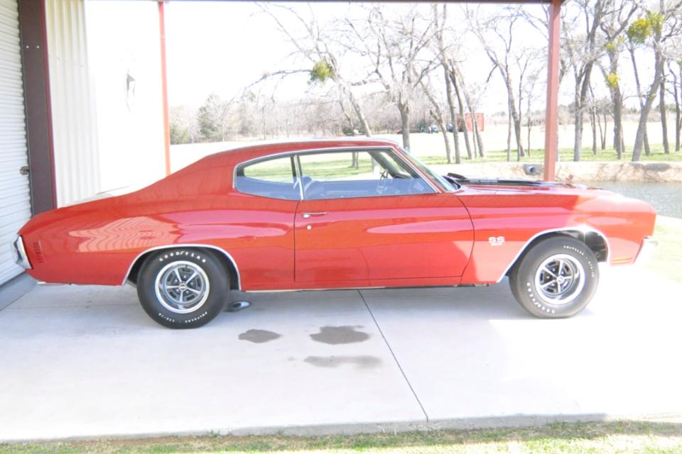 1970 CHEVROLET CHEVELLE SS 396 2 DOOR COUPE - Side Profile - 152035