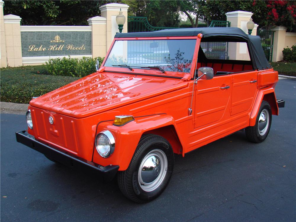 1974 VOLKSWAGEN THING CONVERTIBLE - Front 3/4 - 152044