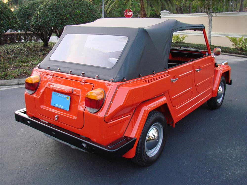 1974 VOLKSWAGEN THING CONVERTIBLE - Rear 3/4 - 152044
