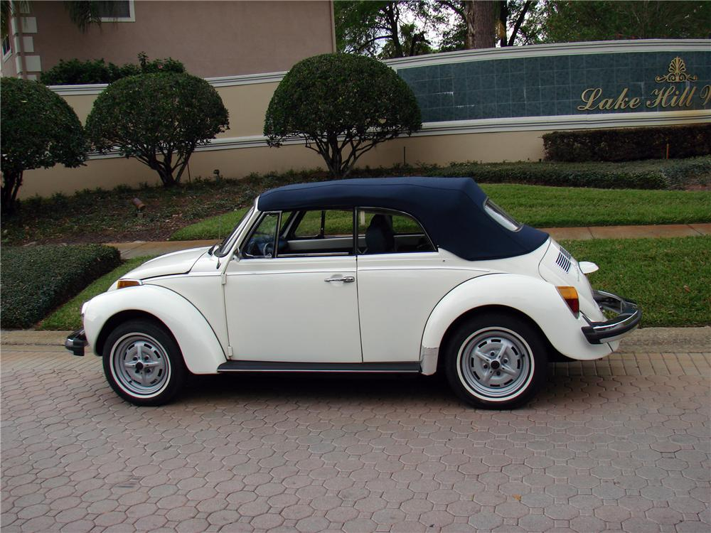 1978 VOLKSWAGEN BEETLE CONVERTIBLE - Side Profile - 152045