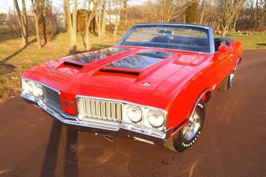 1970 OLDSMOBILE 442 CONVERTIBLE - Front 3/4 - 152071