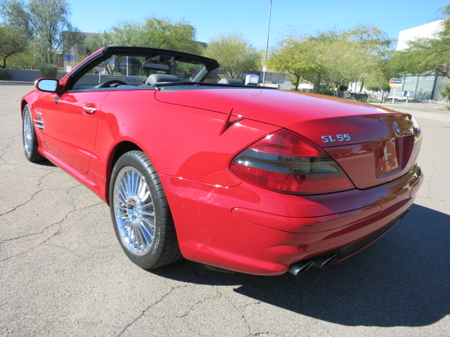 2005 MERCEDES-BENZ SL55 AMG CONVERTIBLE - Rear 3/4 - 152074