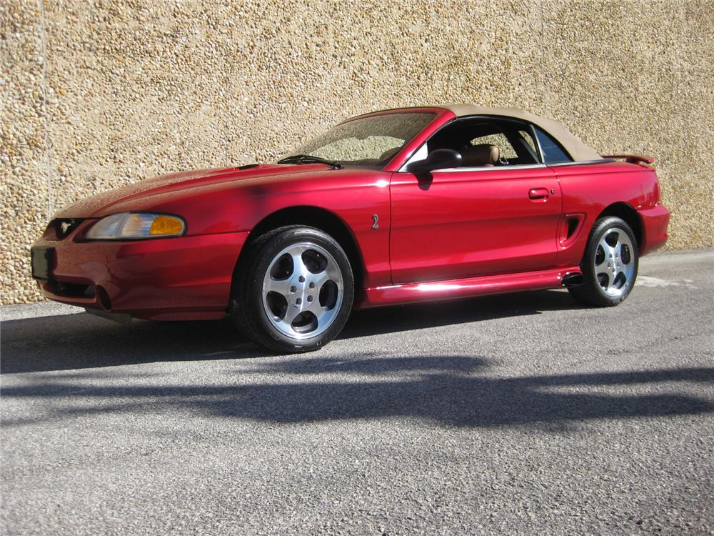 1996 ford mustang cobra svt convertible 152092. Black Bedroom Furniture Sets. Home Design Ideas