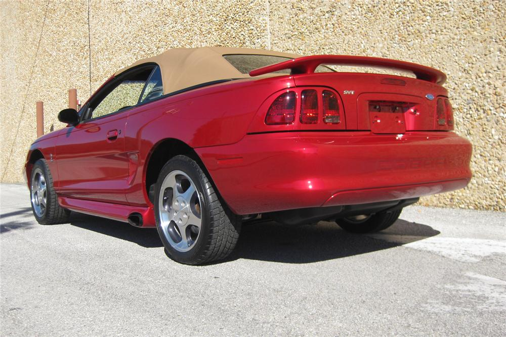 1996 FORD MUSTANG COBRA SVT CONVERTIBLE - Rear 3/4 - 152092