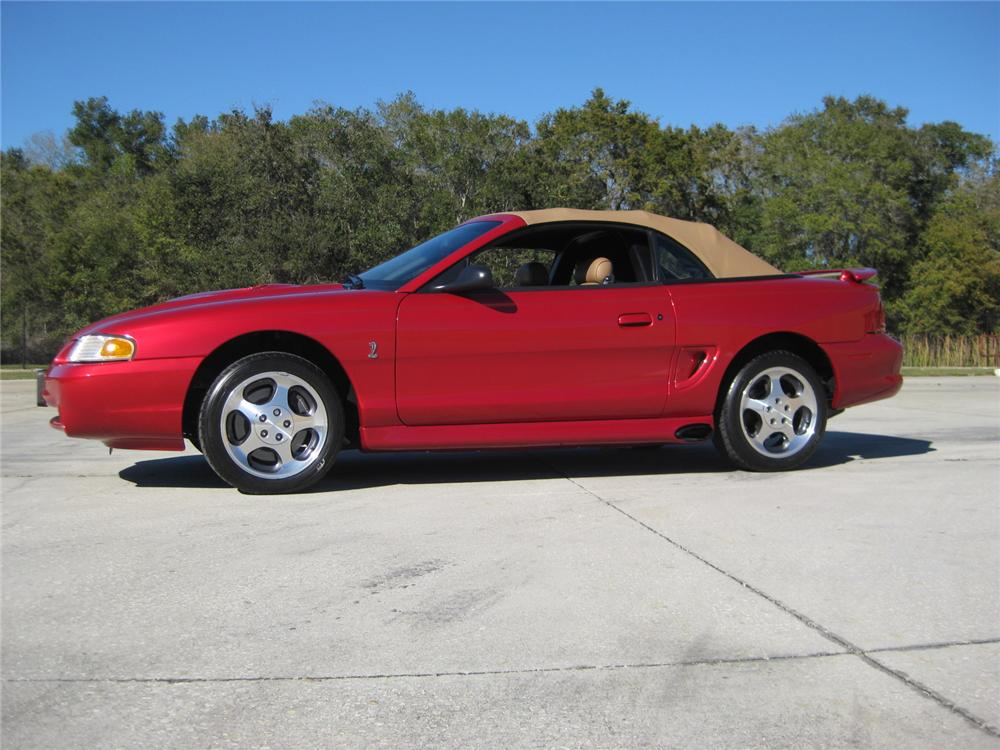 1996 FORD MUSTANG COBRA SVT CONVERTIBLE - Side Profile - 152092