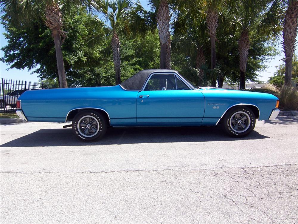 1972 CHEVROLET EL CAMINO PICKUP - Side Profile - 152114