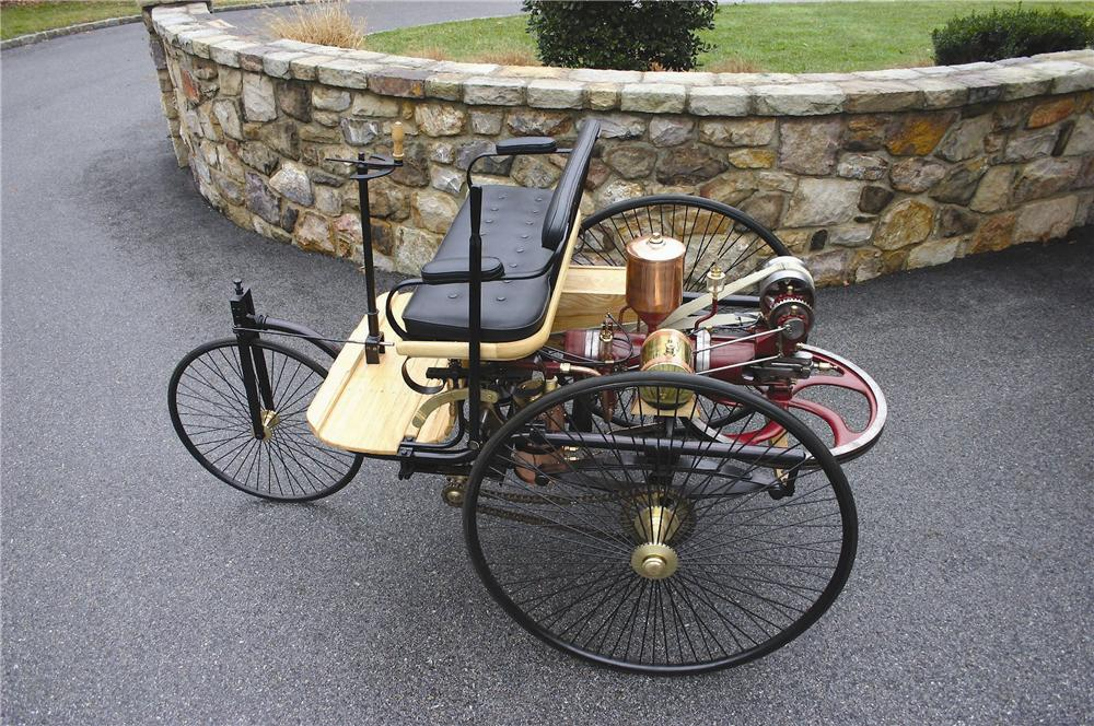 1886 BENZ PATENT MOTORWAGEN CARRIAGE RE-CREATION - Side Profile - 152124