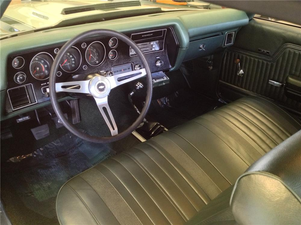 1970 CHEVROLET CHEVELLE MALIBU SS 2 DOOR COUPE - Interior - 152134