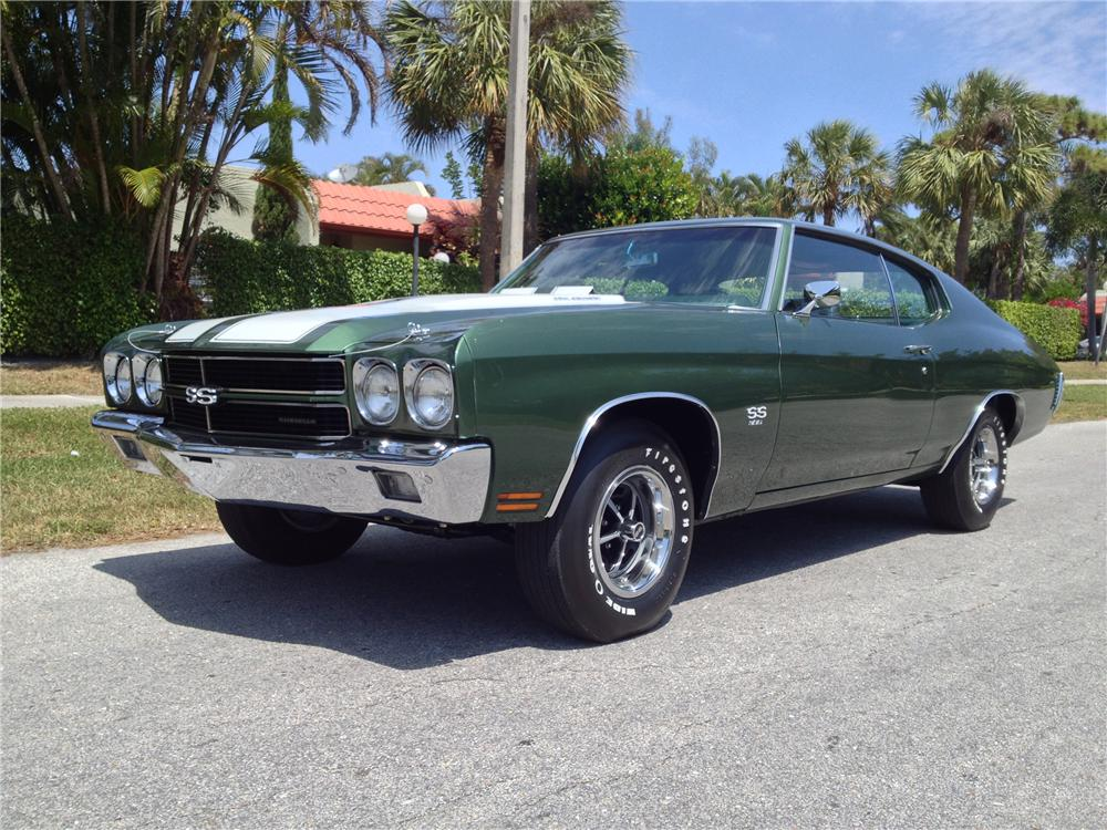 1970 CHEVROLET CHEVELLE MALIBU SS 2 DOOR COUPE - Side Profile - 152134