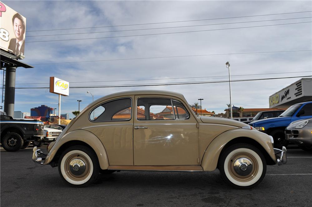 1967 VOLKSWAGEN BEETLE 2 DOOR COUPE - Side Profile - 152141