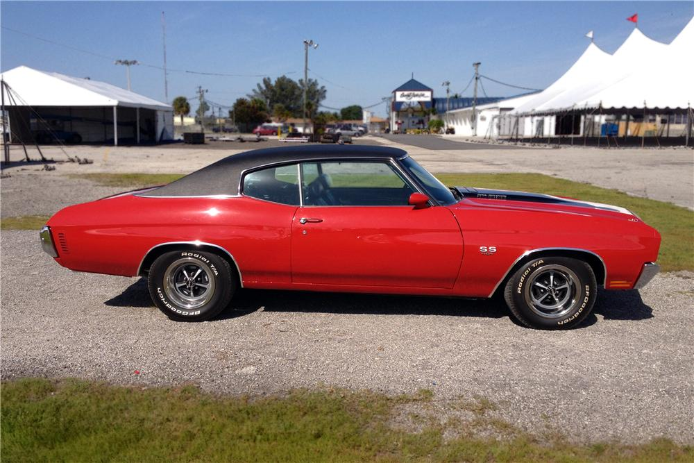 1970 CHEVROLET CHEVELLE 2 DOOR COUPE - Side Profile - 152166
