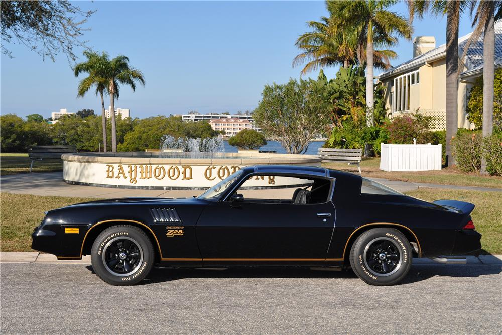 1978 CHEVROLET CAMARO Z/28 2 DOOR COUPE - Side Profile - 152167