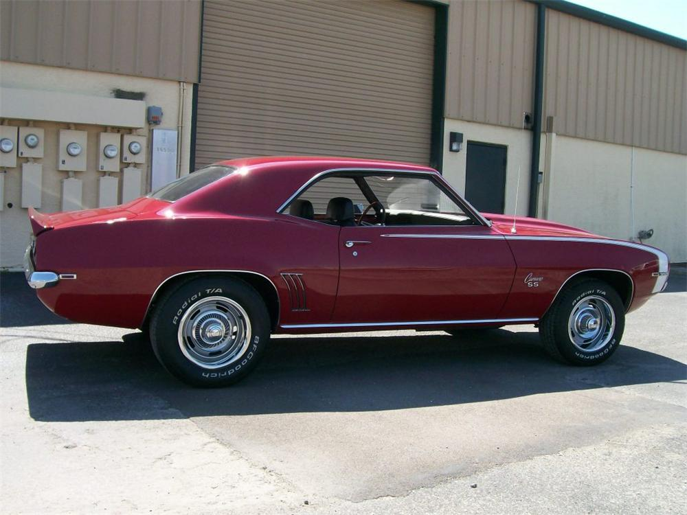 1969 CHEVROLET CAMARO SS 2 DOOR COUPE - Side Profile - 152495
