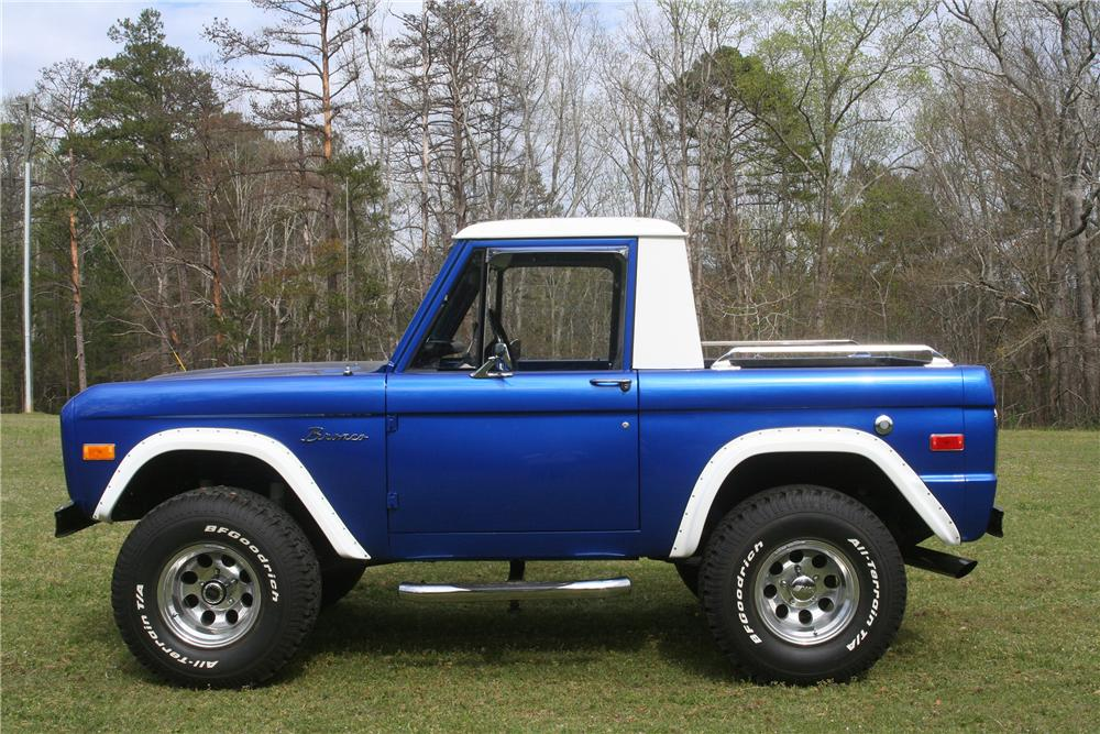 1976 FORD BRONCO 1/2 CAB - Side Profile - 152516