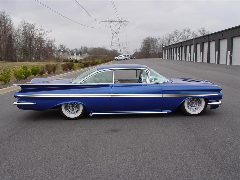 1959 CHEVROLET IMPALA CUSTOM 2 DOOR COUPE - Side Profile - 152837