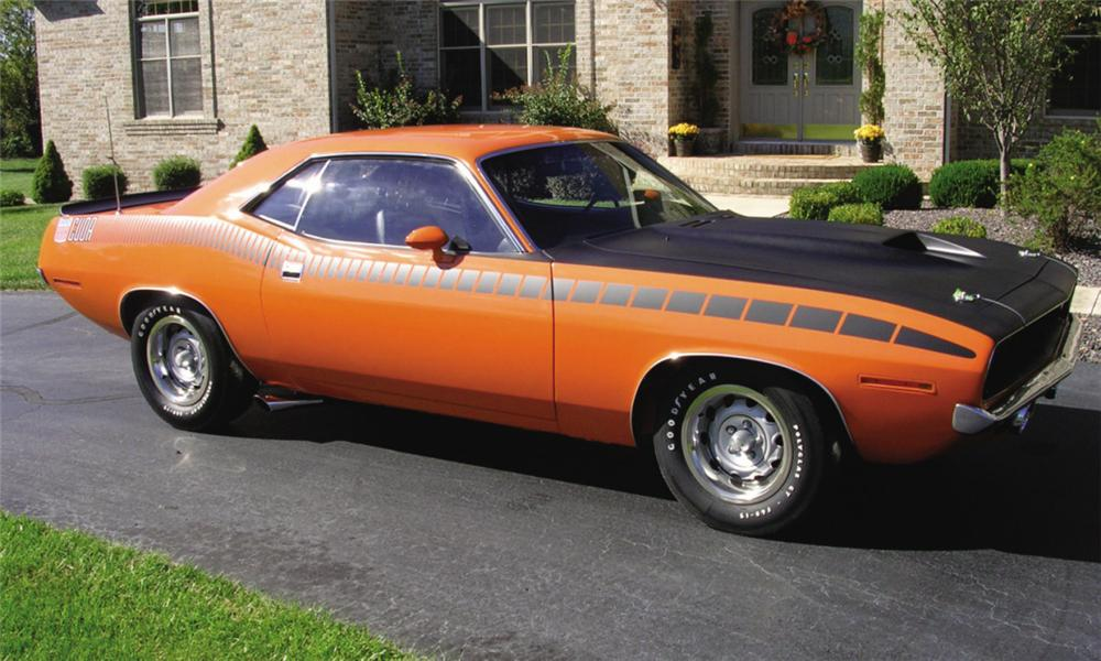 1970 PLYMOUTH CUDA 2 DOOR - Front 3/4 - 15378