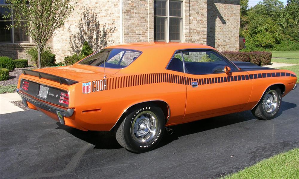 1970 PLYMOUTH CUDA 2 DOOR - Rear 3/4 - 15378