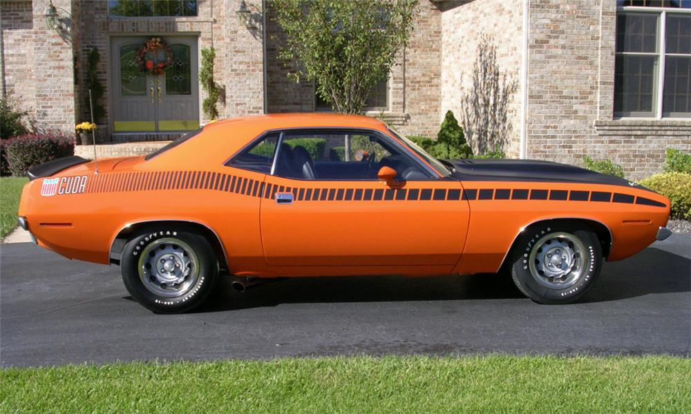 1970 PLYMOUTH CUDA 2 DOOR - Side Profile - 15378