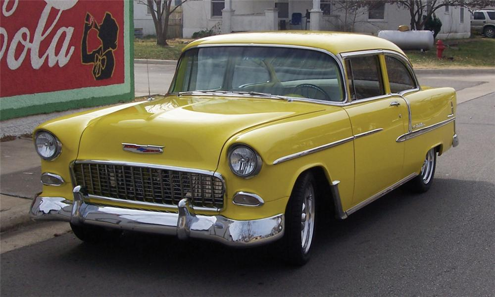 1955 CHEVROLET BEL AIR 2 DOOR - Front 3/4 - 15379