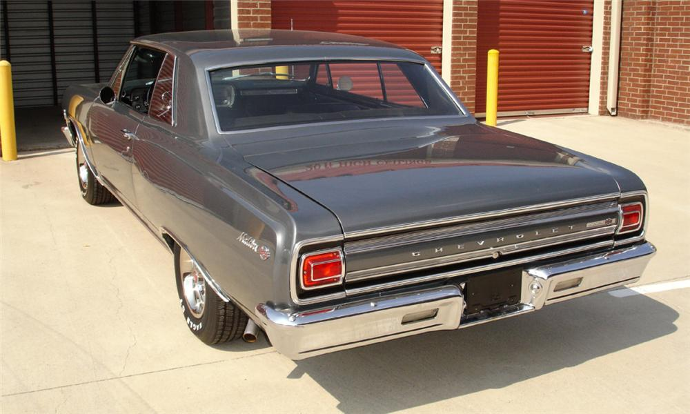 1965 CHEVROLET MALIBU SS 2 DOOR HARDTOP - Rear 3/4 - 15386