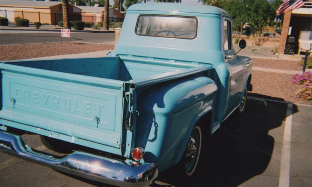 1957 CHEVROLET 3100 PICKUP - Rear 3/4 - 15399