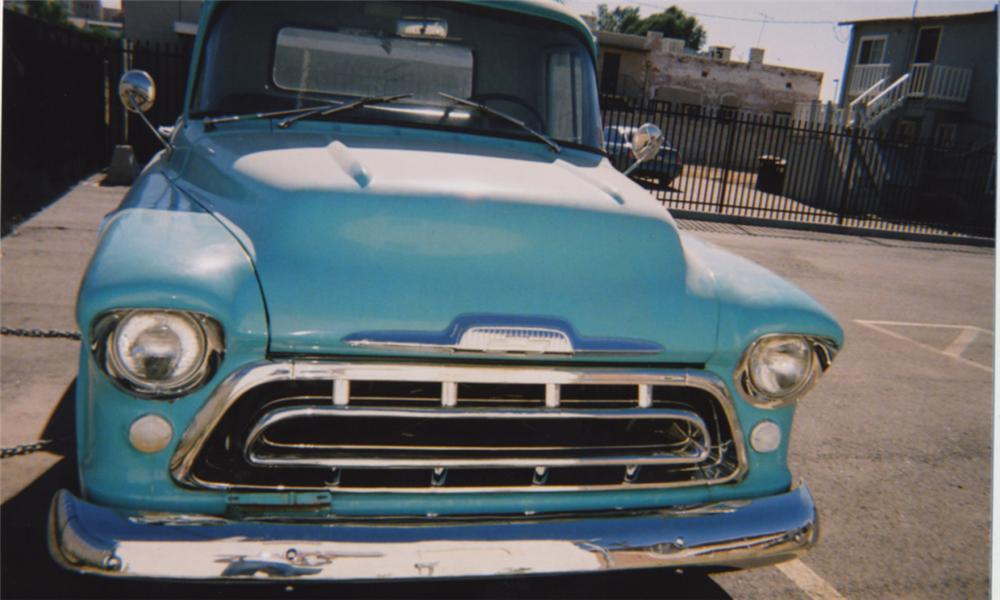 1957 CHEVROLET 3100 PICKUP - Side Profile - 15399