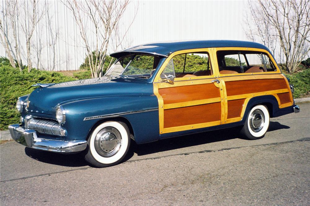1949 MERCURY 8 PASSENGER WOODY STATION WAGON - Front 3/4 - 154014