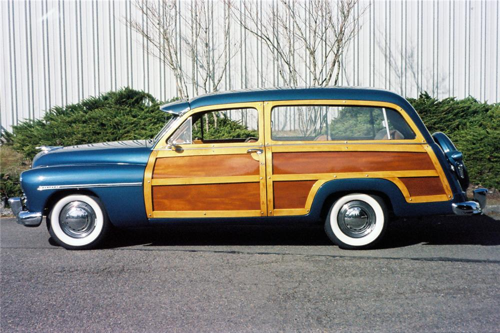 1949 MERCURY 8 PASSENGER WOODY STATION WAGON - Side Profile - 154014