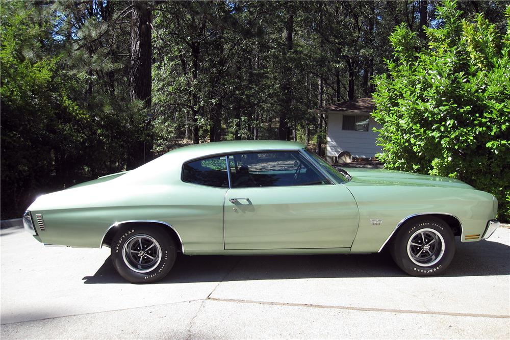 1970 CHEVROLET CHEVELLE LS5 SS 2 DOOR HARDTOP - Side Profile - 154018